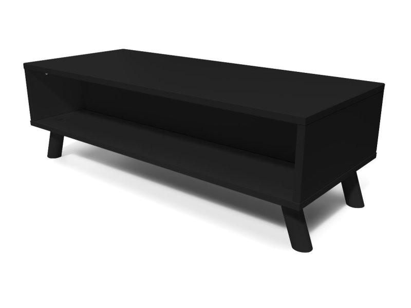 table basse scandinave rectangulaire viking bois noir