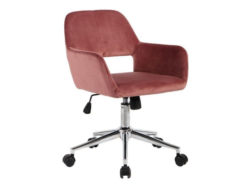 Melton Chaise De Bureau Rose Vente De Altobuy Conforama