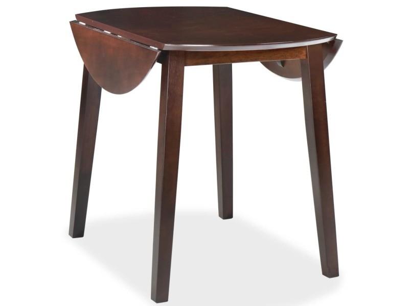 icaverne tables de salle a manger et de cuisine ensemble table de salle a manger ronde a abattant mdf marron