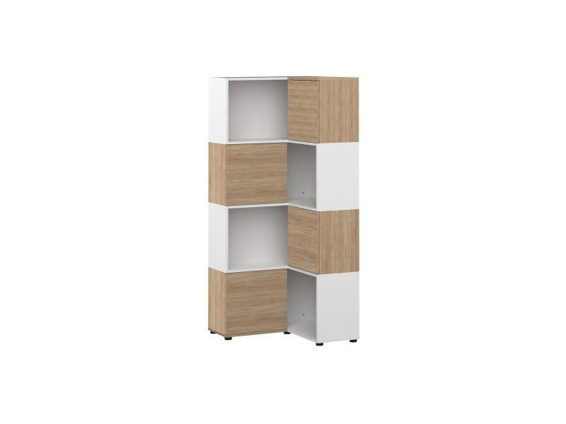 bibliotheque d angle design bois et