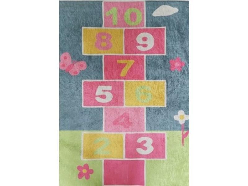 tapis enfant colore marelle 80x150cm