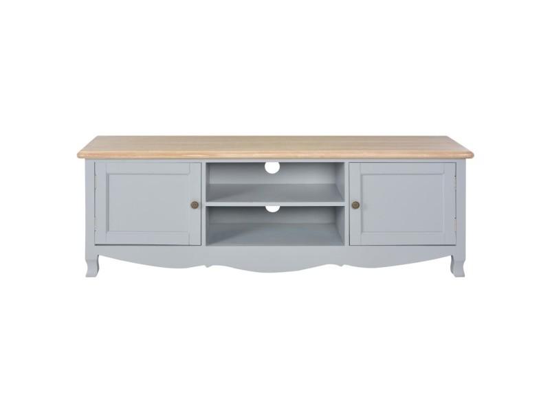 icaverne meubles tv ensemble meuble tv gris 120 x 30 x 40 cm bois