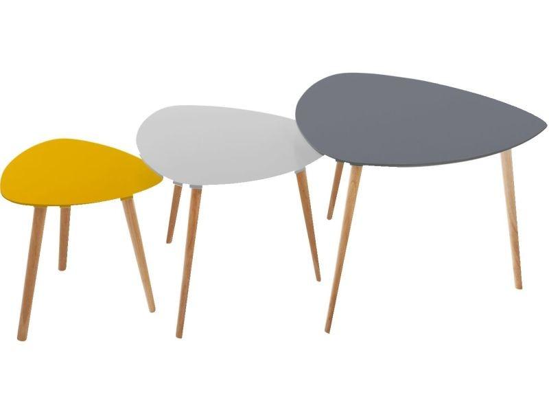 salons table jaune