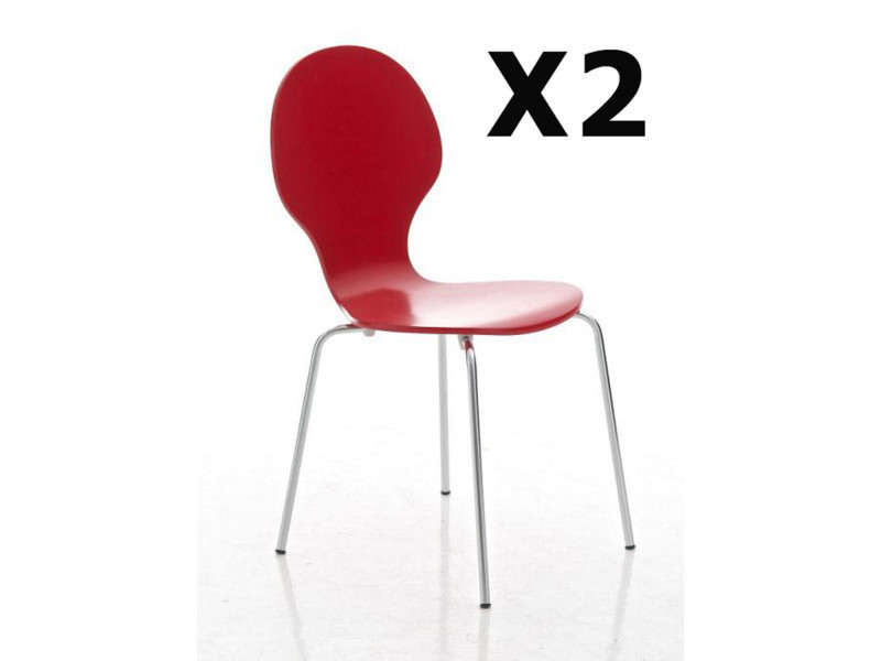salons chaise cm rouge