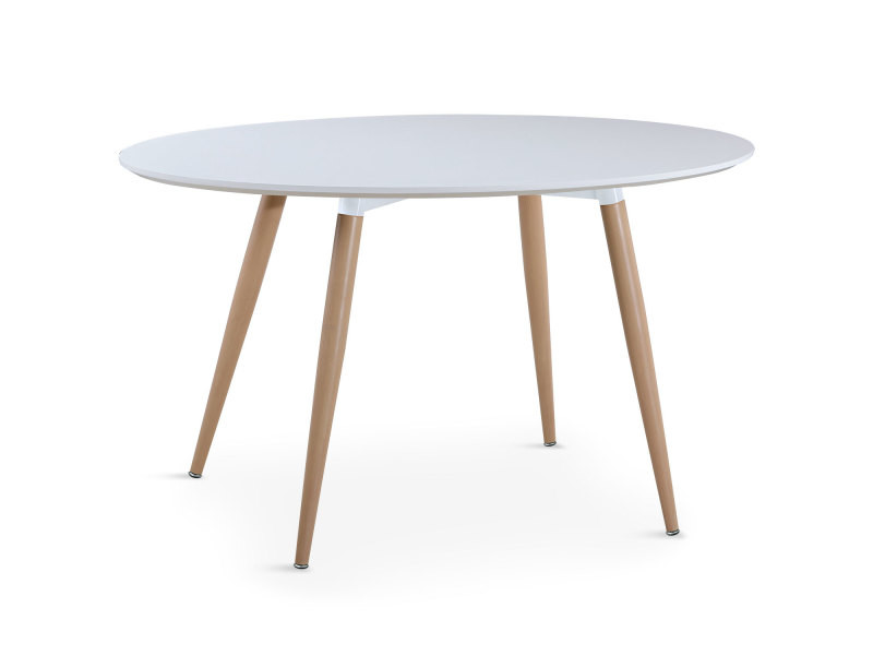 table ovale scandinave sissi blanc