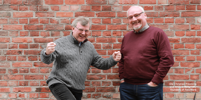 Ole Christian Frenning and Anders Bergman founders of FotoWare