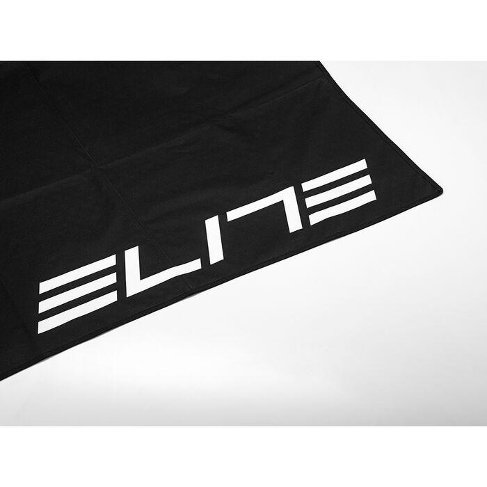 tapis pliable noir elite avec logo blanc