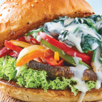 Hamburguesa vegetariana receta con portobello
