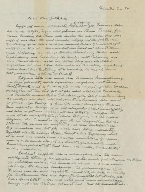 """Carta de Dios"" de Albert Einstein"