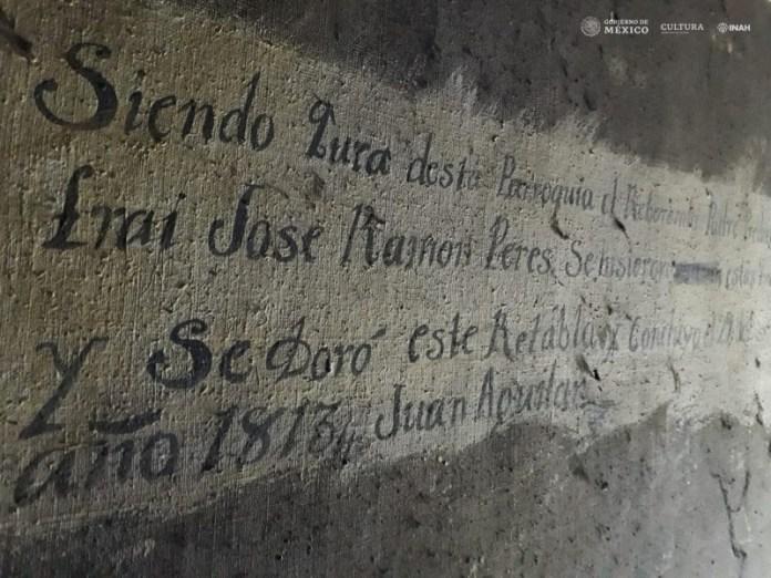 altarpiece inscription San Felipe Chiapas