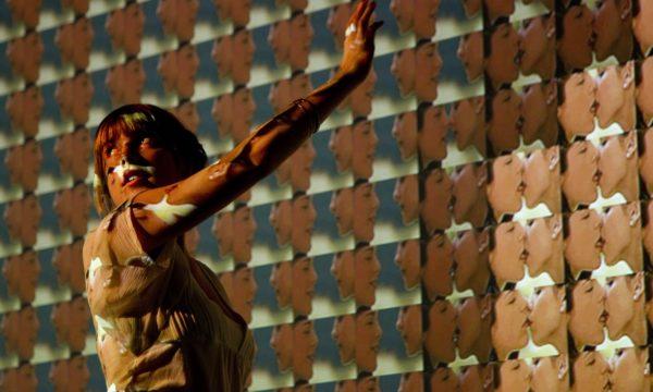 "Rafael Lozano-Hemmer, ""Make Out, Shadow Box 8"", 2008. ''Trackers'', La Gaieté Lyrique, Paris, 2011. Photo by: Antimodular Research"