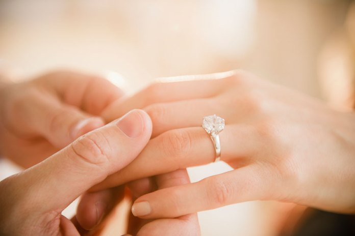 What is advised to pay for an engagement ring