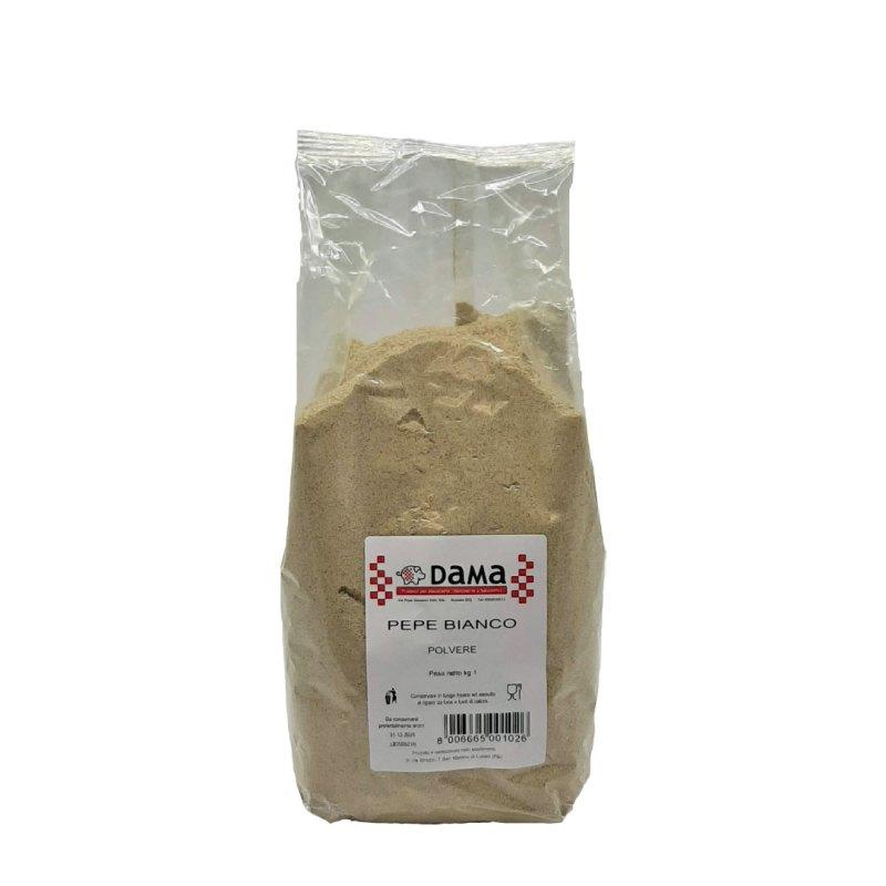 Pepe bianco in polvere per salumi e salmistrati - Confezioni da 100 gr a 1 kg