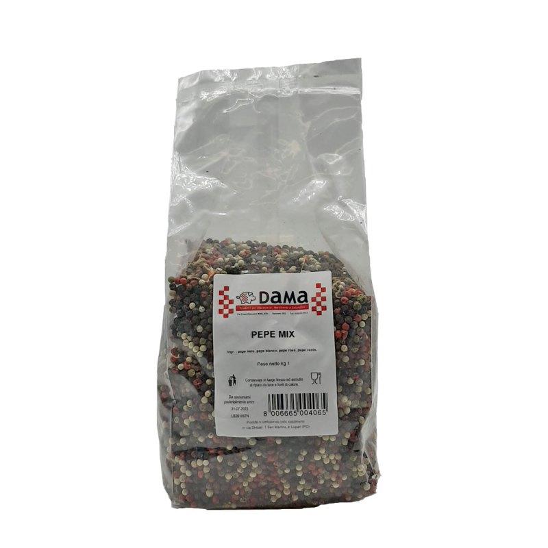 Pepe mix Creola in grani interi per salumi e salmistrati - Confezioni da 100 gr a 1 kg