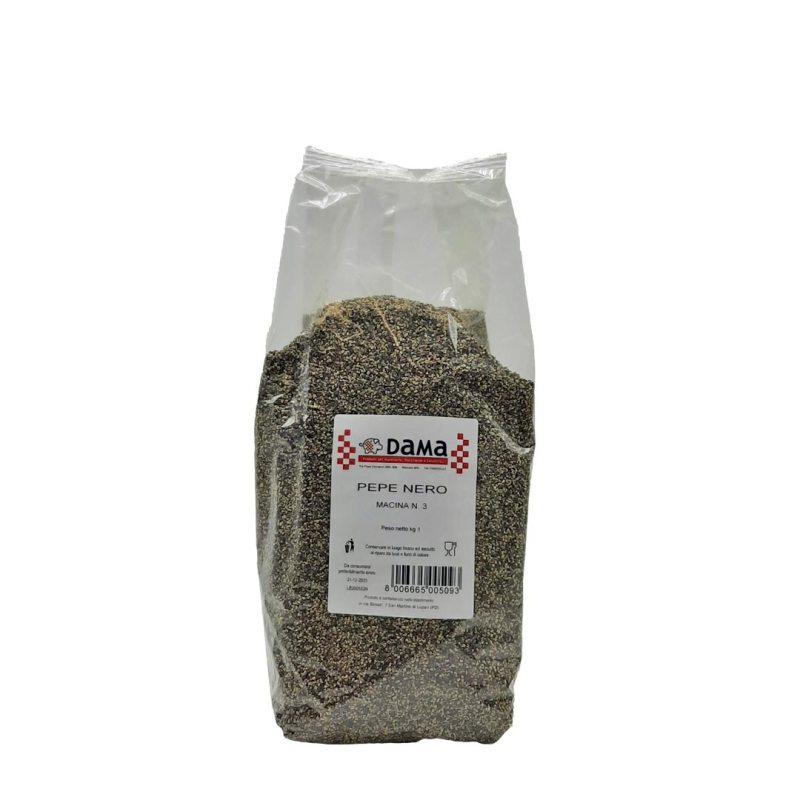 Pepe nero 1/8 di grana per salumi e salmistrati - Confezioni da 100 gr a 1 kg