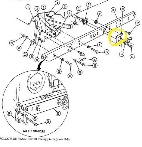 Hmmwv Airlift Bumper Plug Adapter Bracket Where We Focus On Hmmwv