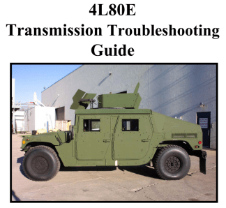4L80E Transmission Troubleshooting Guide