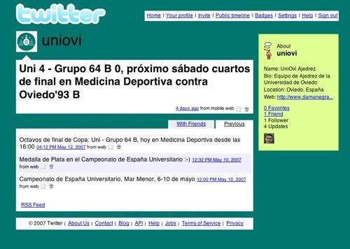 Twitter UniOvi Ajedrez