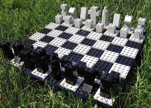 Ajedrez de piezas de Lego