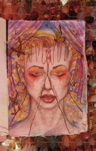 Damaris Mccalley, windows to the soul, butterfly eyes, original watercolor,