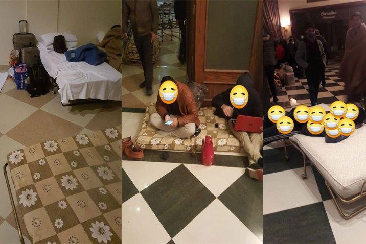 من تحت الدلف لتحت المزراب .. صور صادمة من الحجر الصحي في فندق مطار دمشق