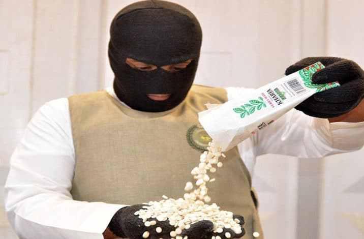 """السعودية تضبط ١٩ مليون حبة مخدرة ضمن علب متة """"خارطة الخضراء"""""""
