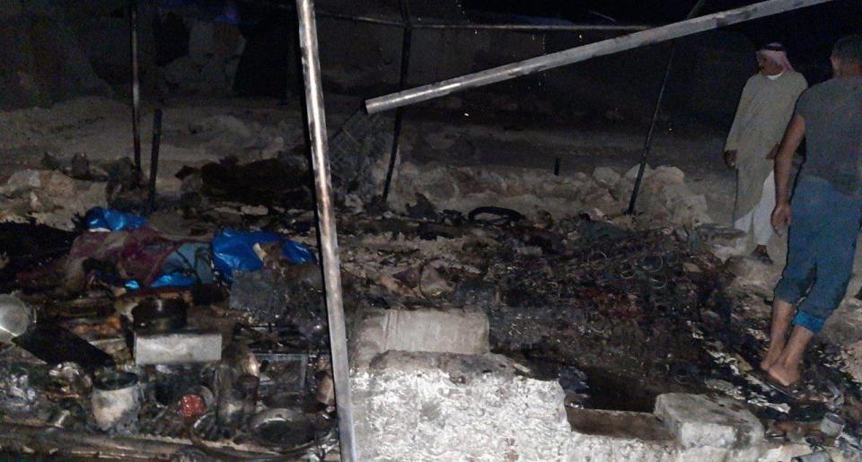 وفاة نازح من الغوطة الشرقية حرقاً في خيمته بريف إدلب