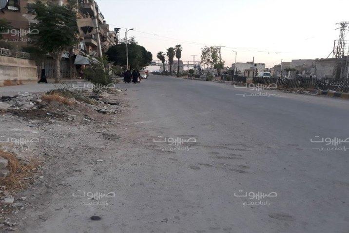 إصابة عنصر للنظام برصاص مجهولين في مدينة دوما بريف دمشق
