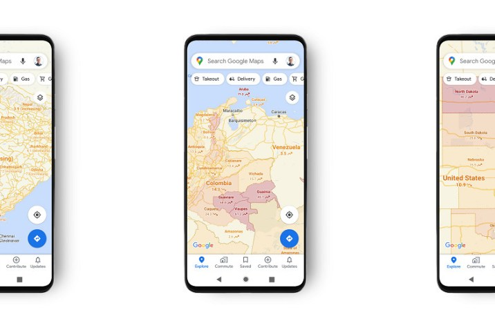 Google Maps تعلن عن ميزة جديدة لمعرفة مناطق توزع مصابي كورونا