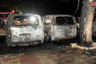 خاص مصادر تكشف أسباب حريق فانات أوتوستراد المزة بدمشق