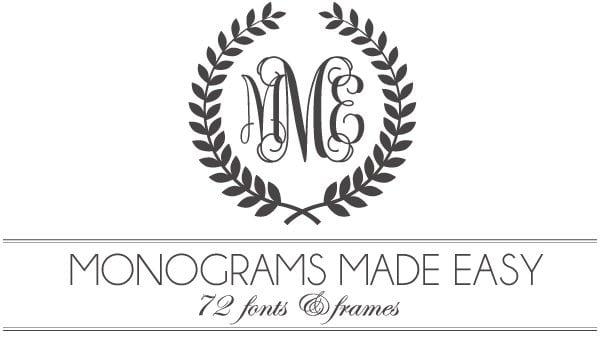 Diamond Monogram Embroidery Font