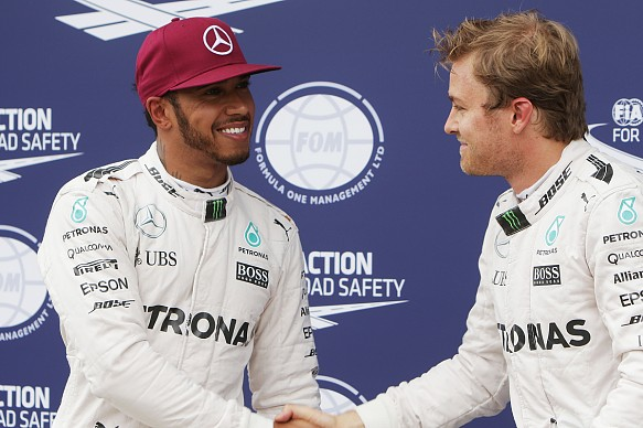 Lewis Hamilton, Nico Rosberg, Mercedes F1 Canadian GP qualifying 2016