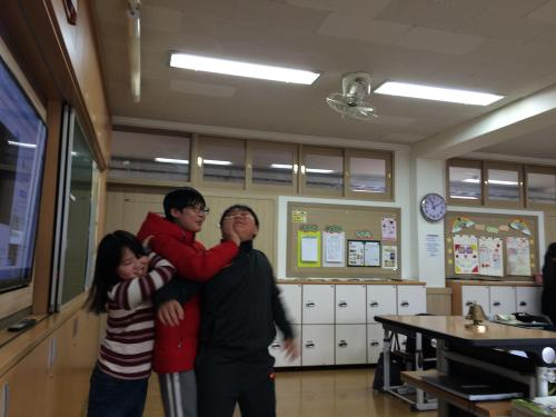 Some of my beloved students. They love each other, I promise.