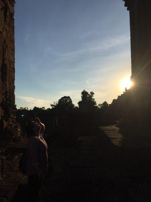 Angkor Wat Path Cambodia Siem Reap Pre Rup Sunset Temple
