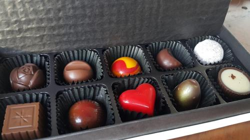 Feeling 18 Chocolate Nantou Taiwan box of chocolates open