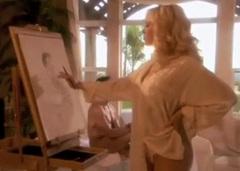 Malířka Kagney Linn Karter a její nahý model
