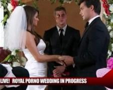 Nevěsta Madelyn Marie šuká s ženichem v obřadní síni
