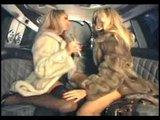 Anette Dawn lesbicky dovádí v limuzíně