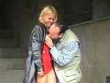 Veřejný sex prostitutky a zákazníka