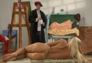 Sex s blonďatou modelkou