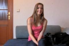 Česká dívka Abigaile Johnson na castingu