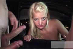 Skupinové ojetí české řidičky na parkovišti – gang bang porno