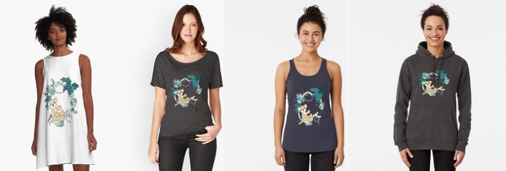 'Draw for Wild' Cats Kleding 04
