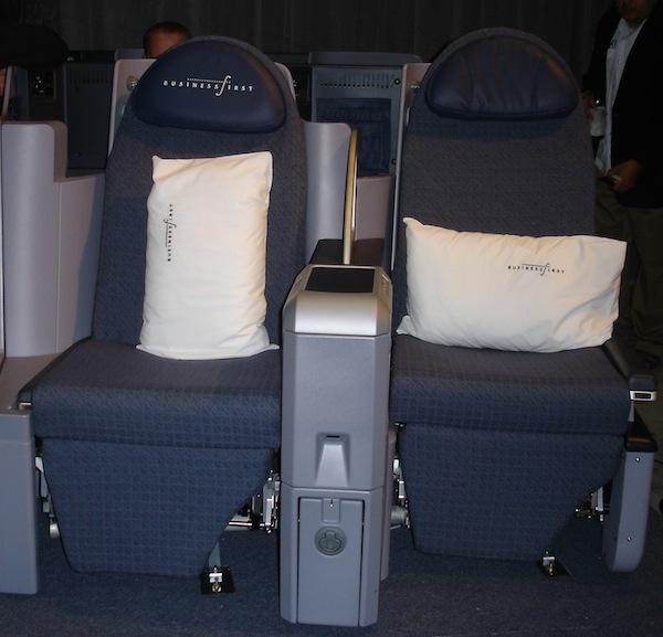 Continental fully flat business class