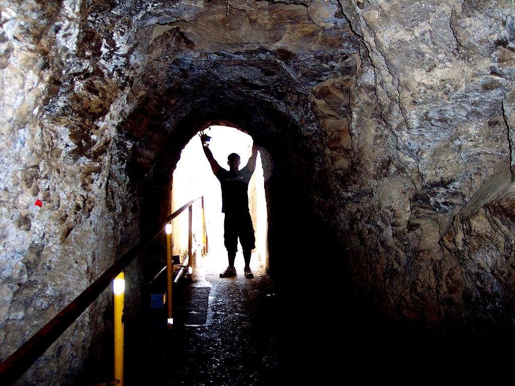 Tunnel on Diamond Head hike, Hawaii