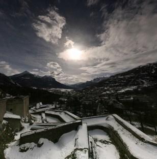 Vue depuis la Citadelle de Briançon