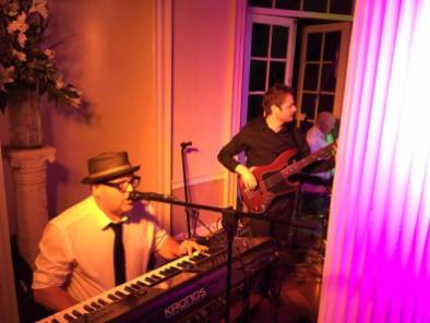 Baden Harrison and Gavin Bradshaw playing with The Disco Prophets