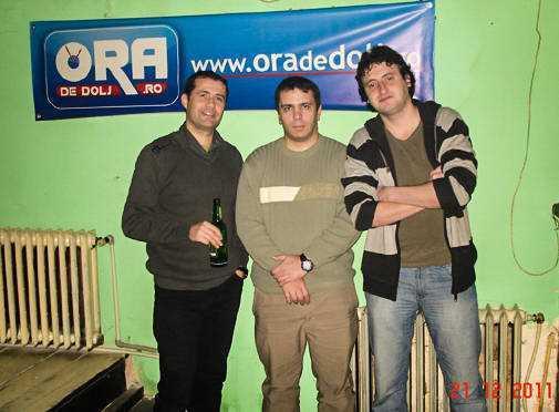 BlogMeet în trei, de la stânga la dreapta - Daniel Botea, Marius Călugăru și eu