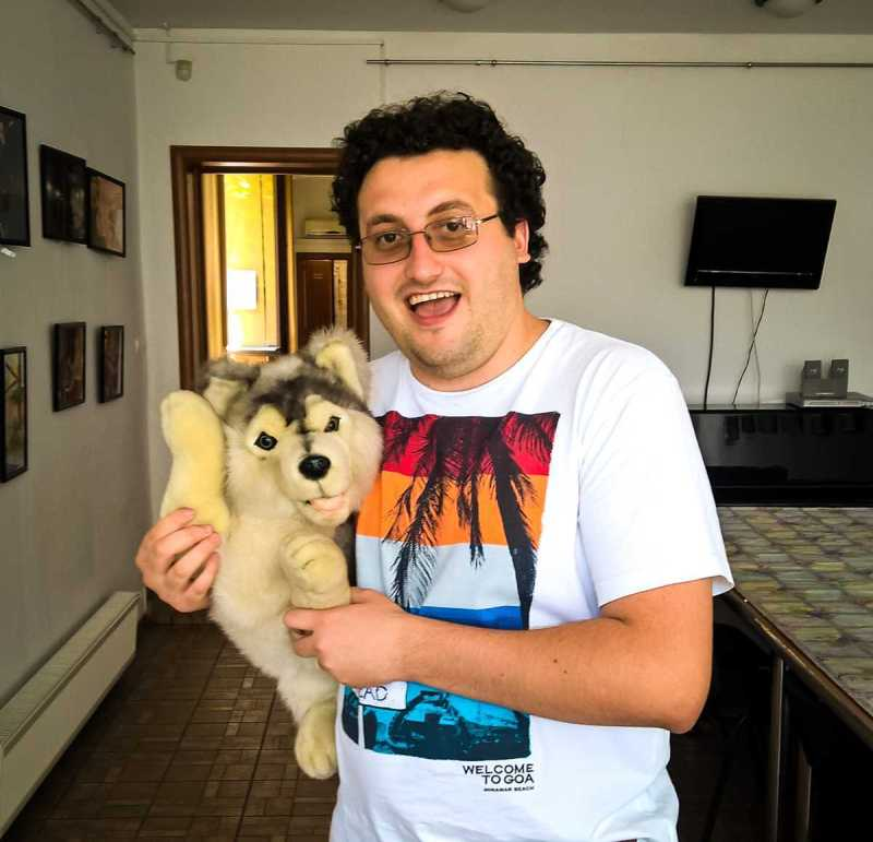 Eu și Husky