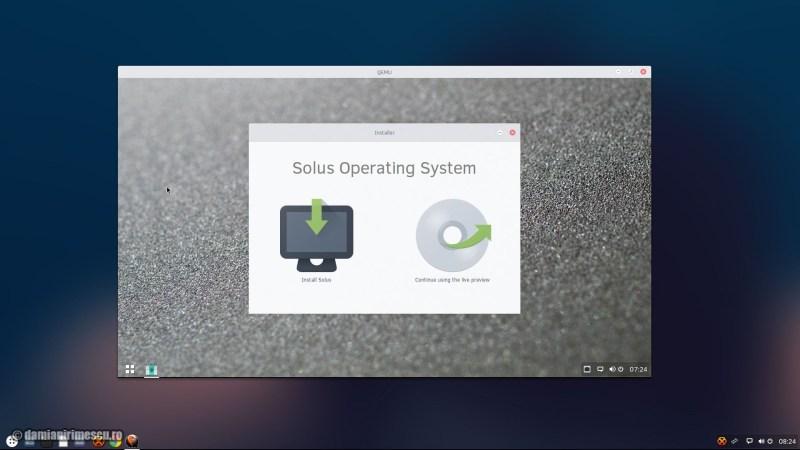 Solus OS alternativă la Windows 10 UEFI